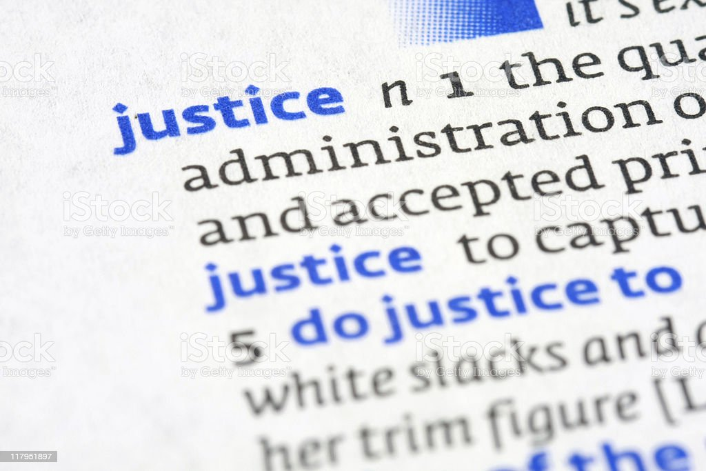 Dictionary Definition: Justice royalty-free stock photo
