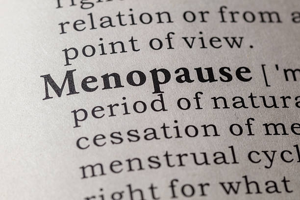 Dictionary definition of menopause stock photo