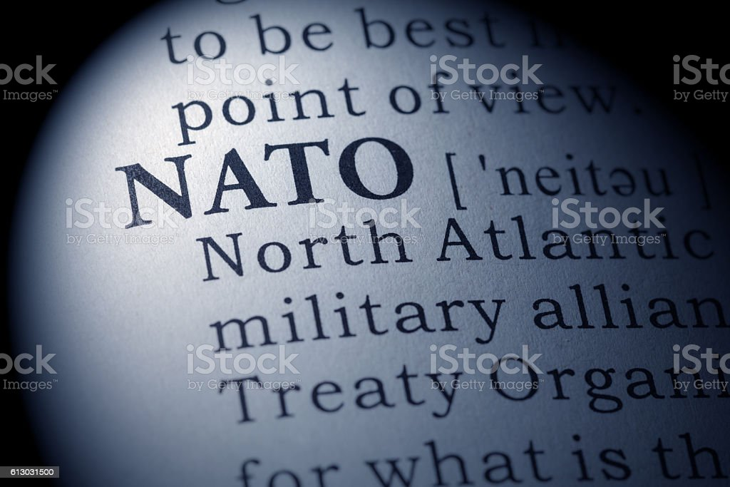 Dictionary definition of NATO stock photo