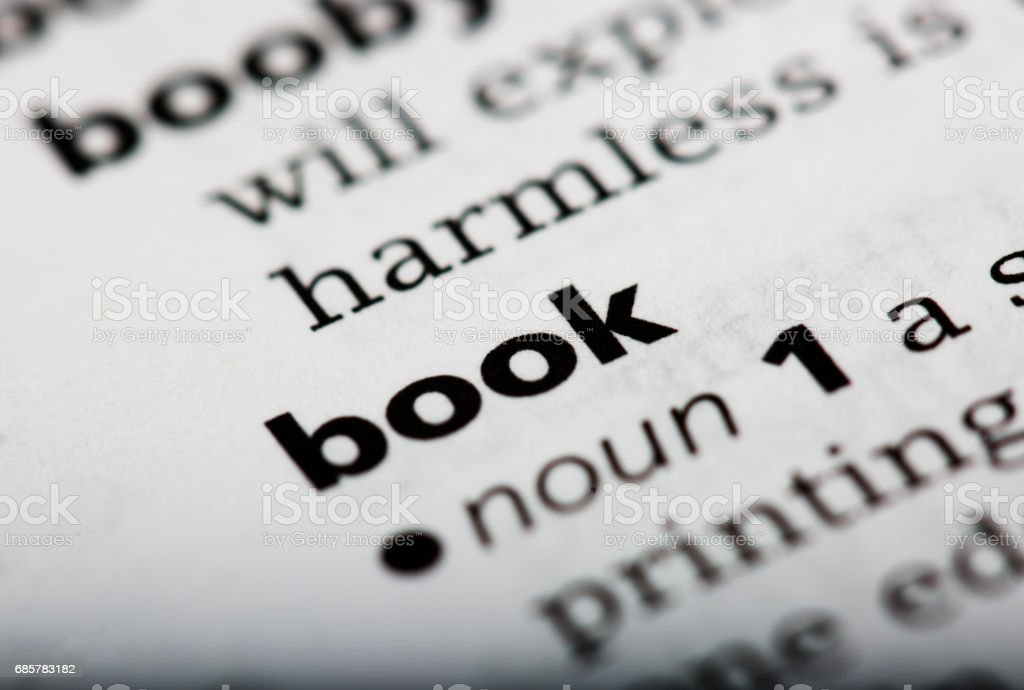 Dictionary definition of the word book royalty-free stock photo