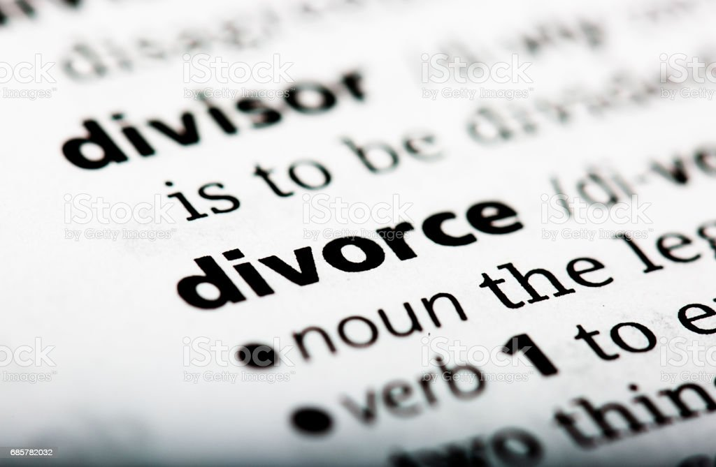 Dictionary definition of the word divorce royalty-free stock photo