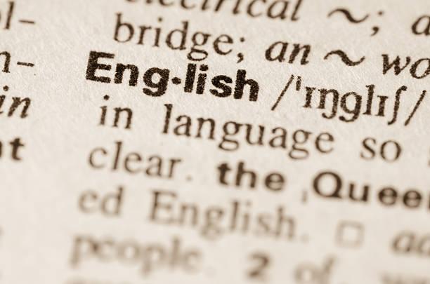 wörterbuch-definition der wort englisch - england stock-fotos und bilder