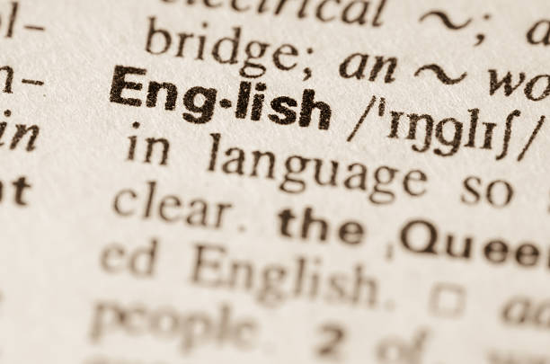 dictionary definition of word english - engeland stockfoto's en -beelden
