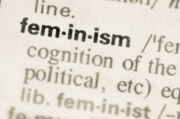 Dictionary definition of word feminism Definition of word  feminism in dictionary women's rights stock pictures, royalty-free photos & images