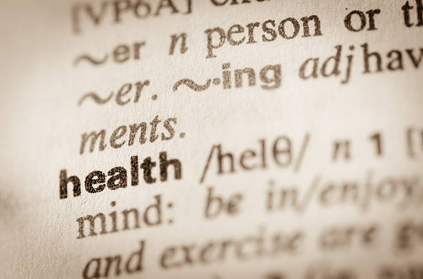 Dictionary definition of word health stock photo