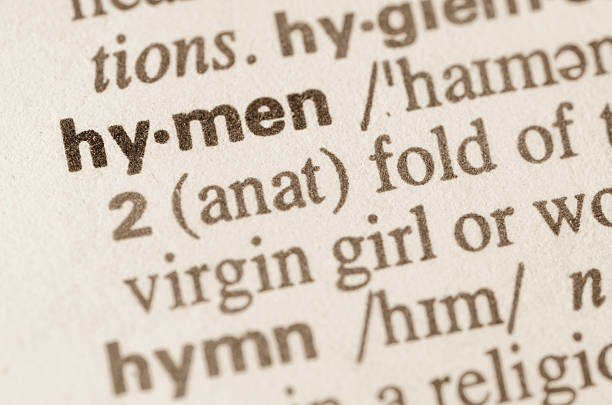 dictionary definition of word hymen - hymen stock photos and pictures