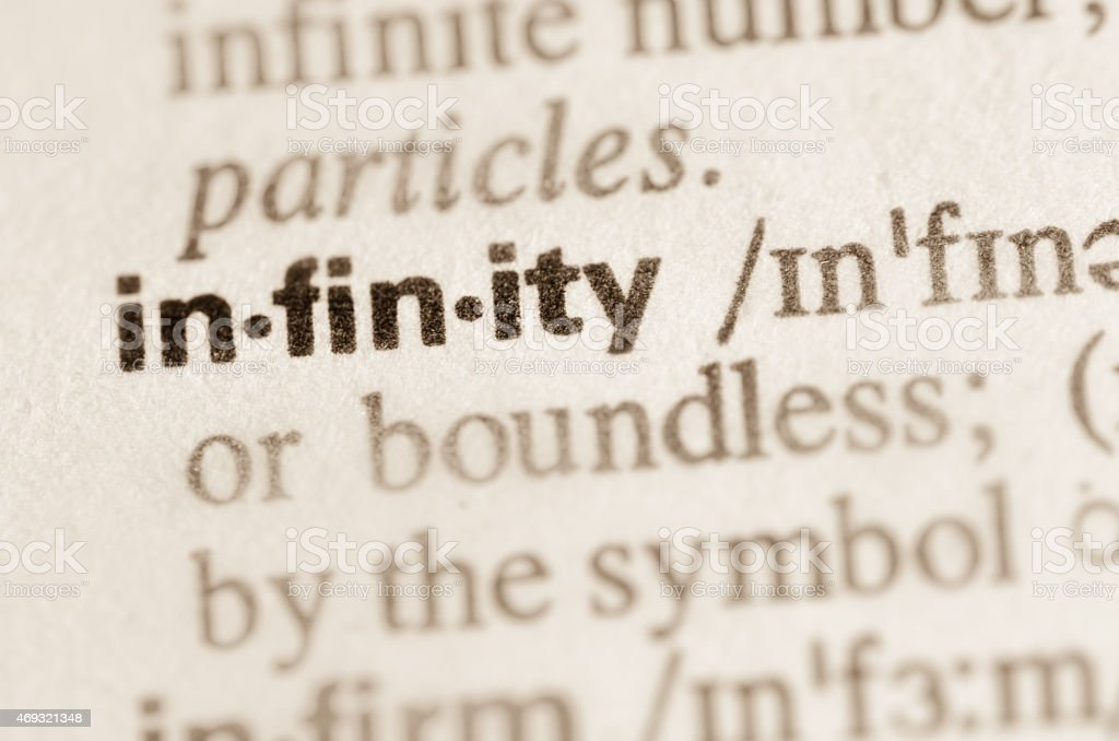 dictionary definition of word infinity stock photo more pictures