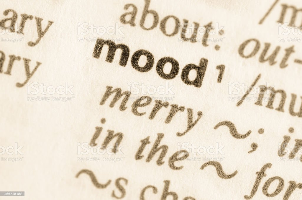 Dictionary definition of word mood stock photo