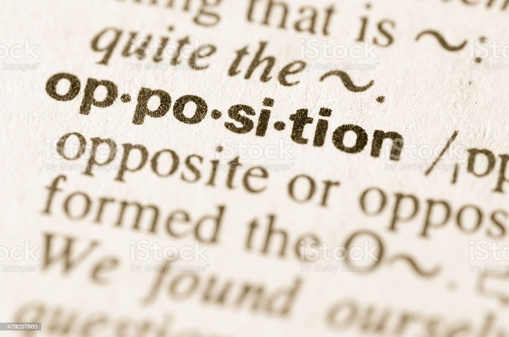 Dictionary Definition Of Word Opposition stock photo | iStock