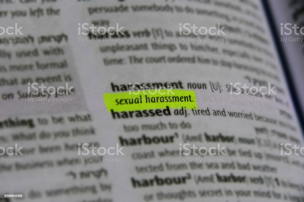 Sexual harassment dictionary