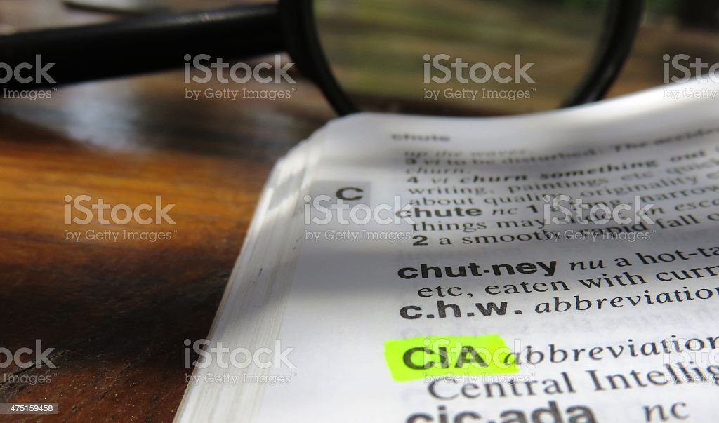 CIA : dictionary definition stock photo