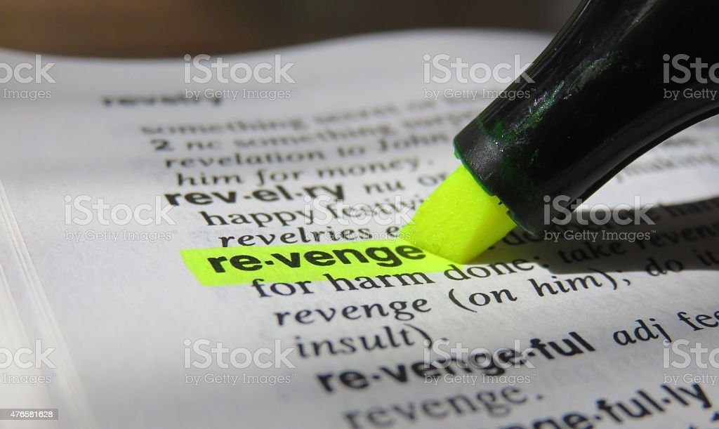 Dictionary definition :Revenge stock photo