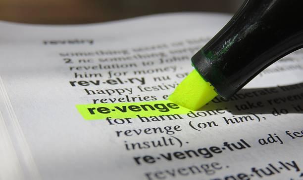 Diccionario definición: la venganza - foto de stock