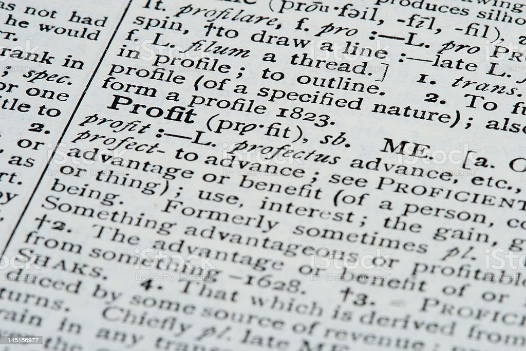 Dictionary Definitions royalty-free stock photo
