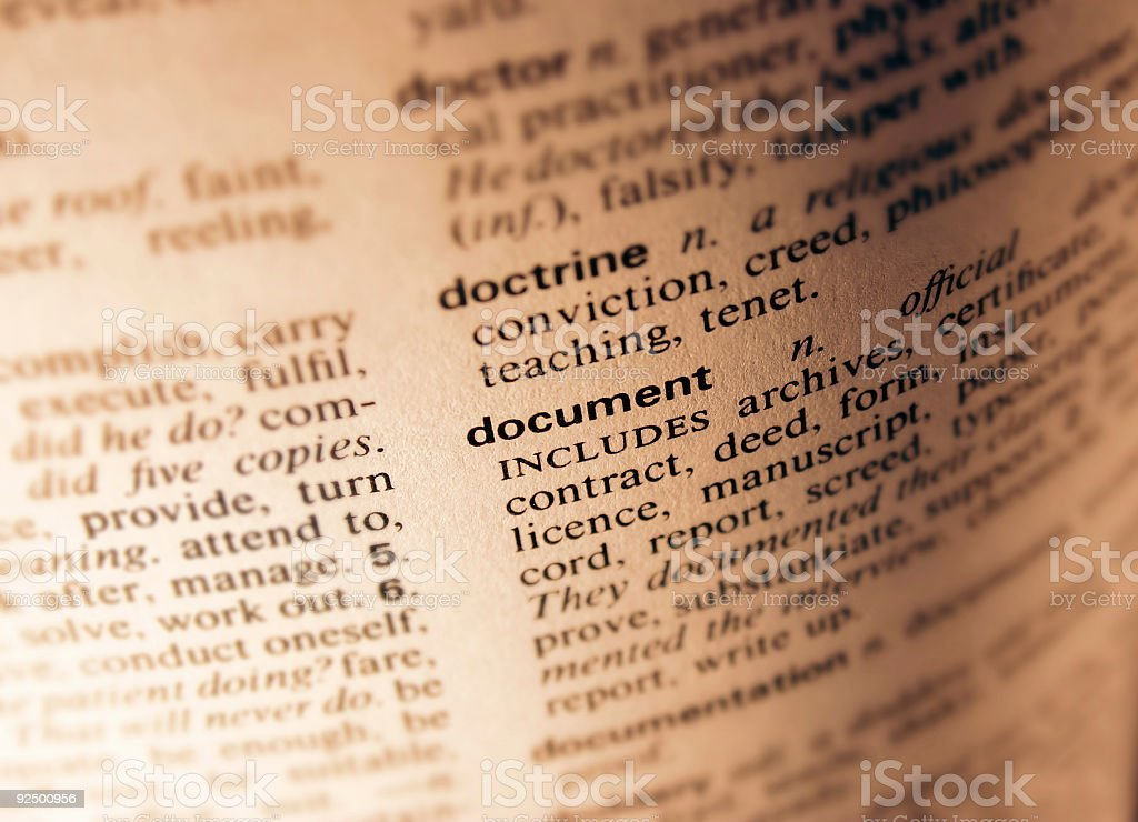 Dictionary - Document royalty-free stock photo