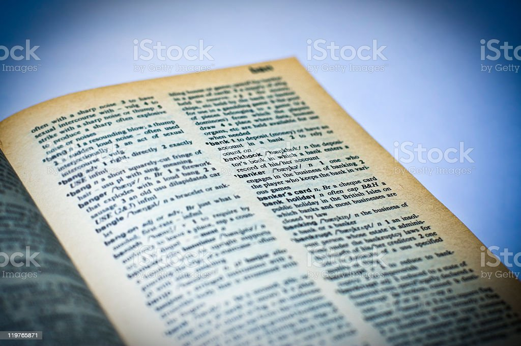 Dictionary english - bank royalty-free stock photo