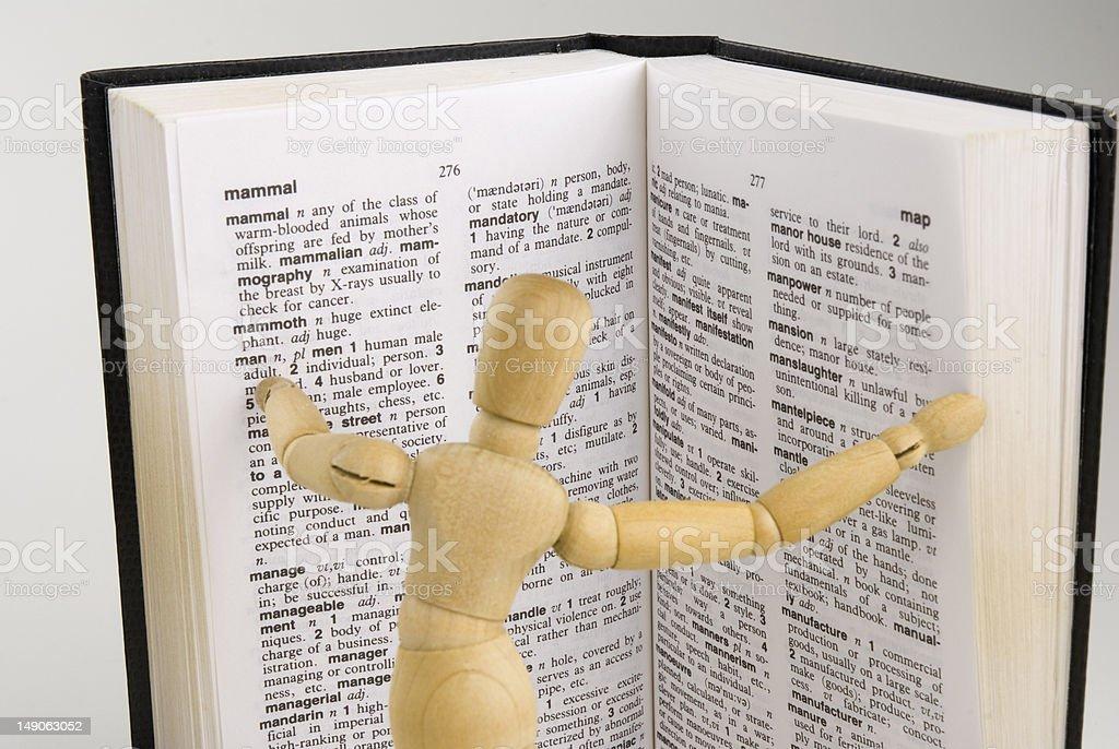 dictionary man royalty-free stock photo