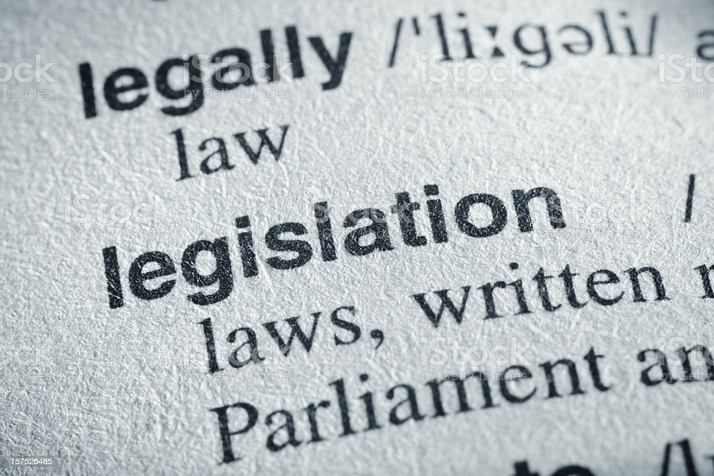 Dictionary page features the word legislation in bold print stock photo