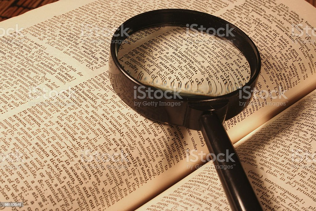 Dictionary search royalty-free stock photo