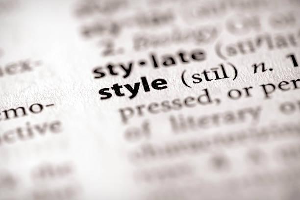 Wörterbuch-Serie-Attribute: Stil – Foto