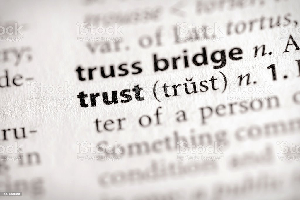 Wörterbuch-Serie-Attribute: Vertrauen – Foto