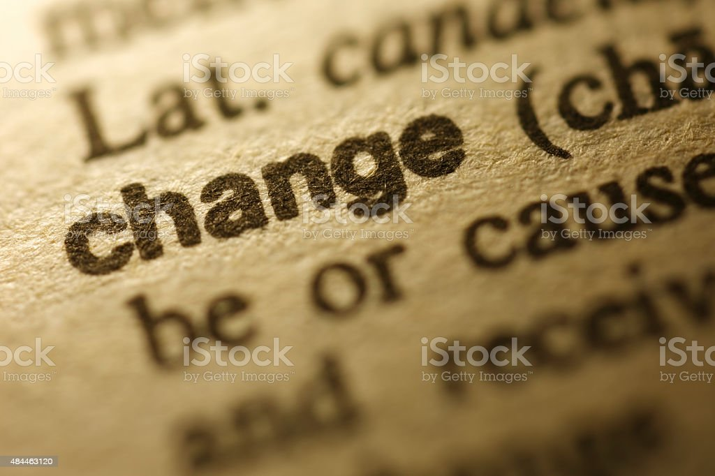 Dictionary Series -  Change stock photo