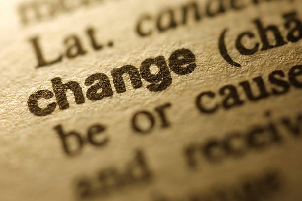 Dictionary Series -  Change stock photo