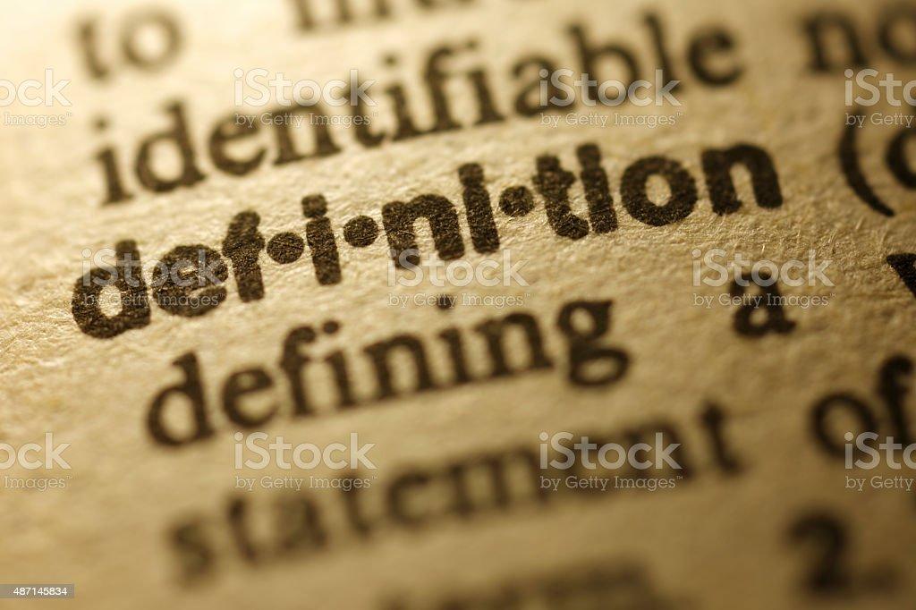 Wörterbuch-Definition-Serie - Lizenzfrei 2015 Stock-Foto