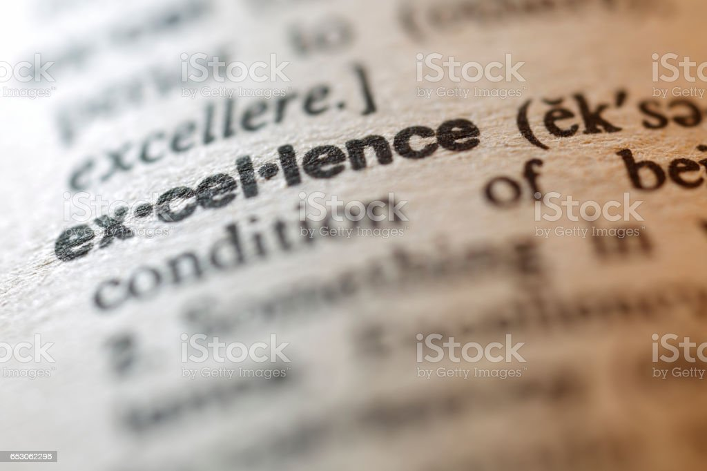 Dictionary Series - Excellence stock photo