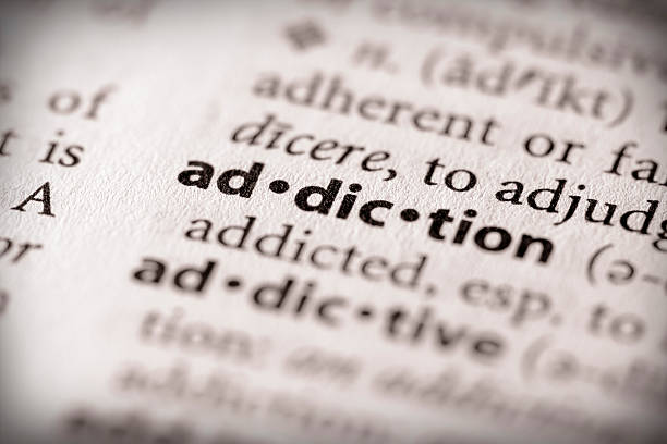 Dictionary Series - Health: Addiction  addict stock pictures, royalty-free photos & images