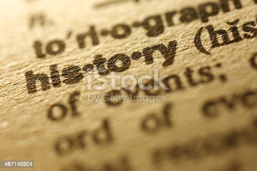 istock Dictionary Series - History 487145924