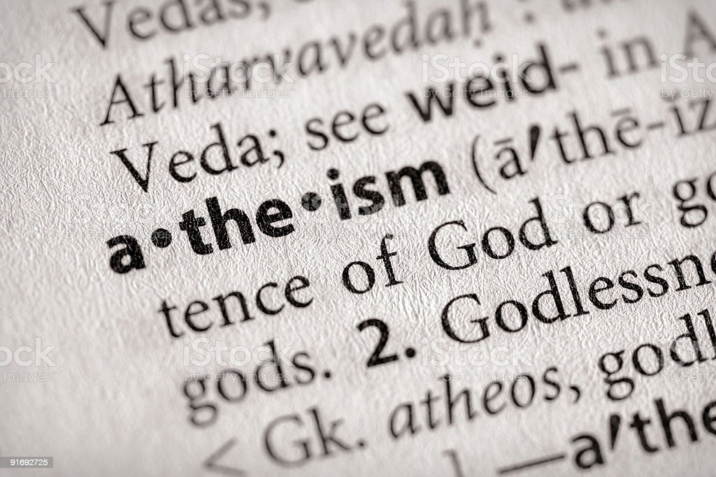 Dictionary Series - Religion: Atheism stock photo