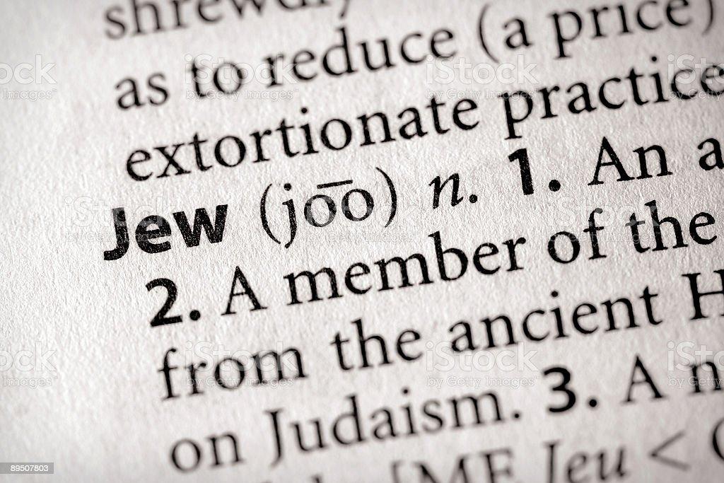 Dictionary Series - Religion: Jew stock photo