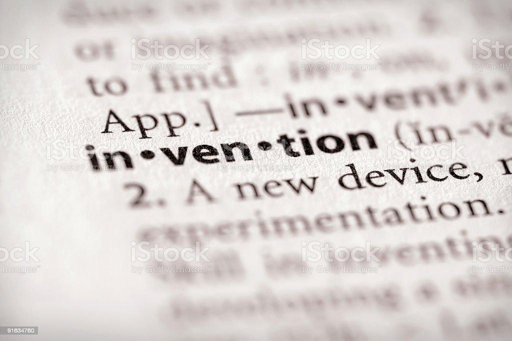 Wörterbuch Serie-Wissenschaft: Erfindung – Foto
