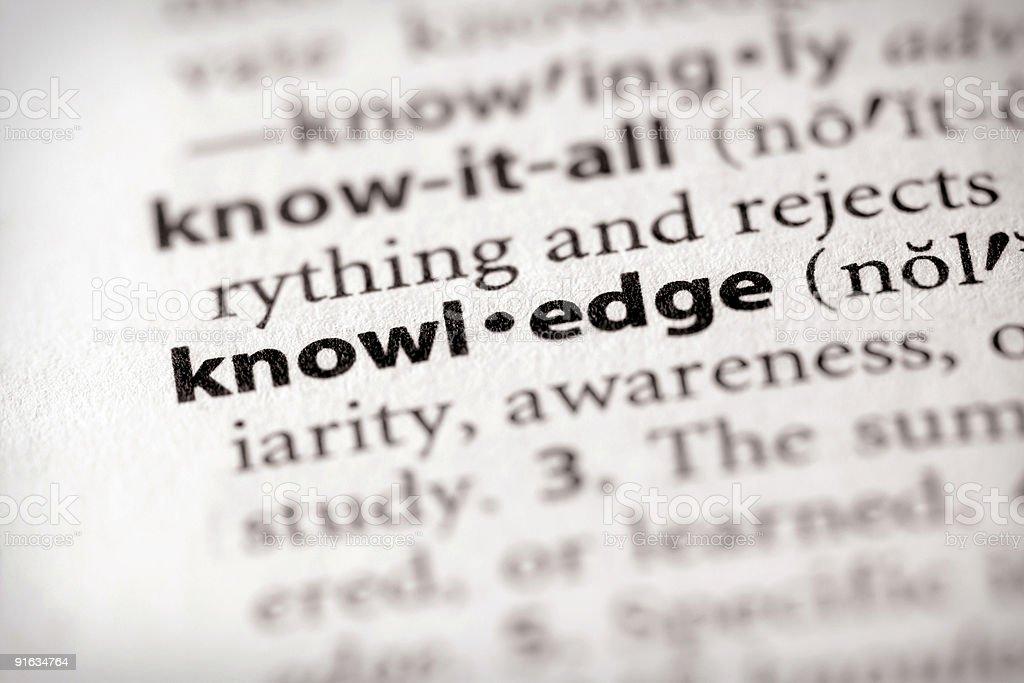 Wörterbuch Serie-Wissenschaft: Kenntnisse – Foto