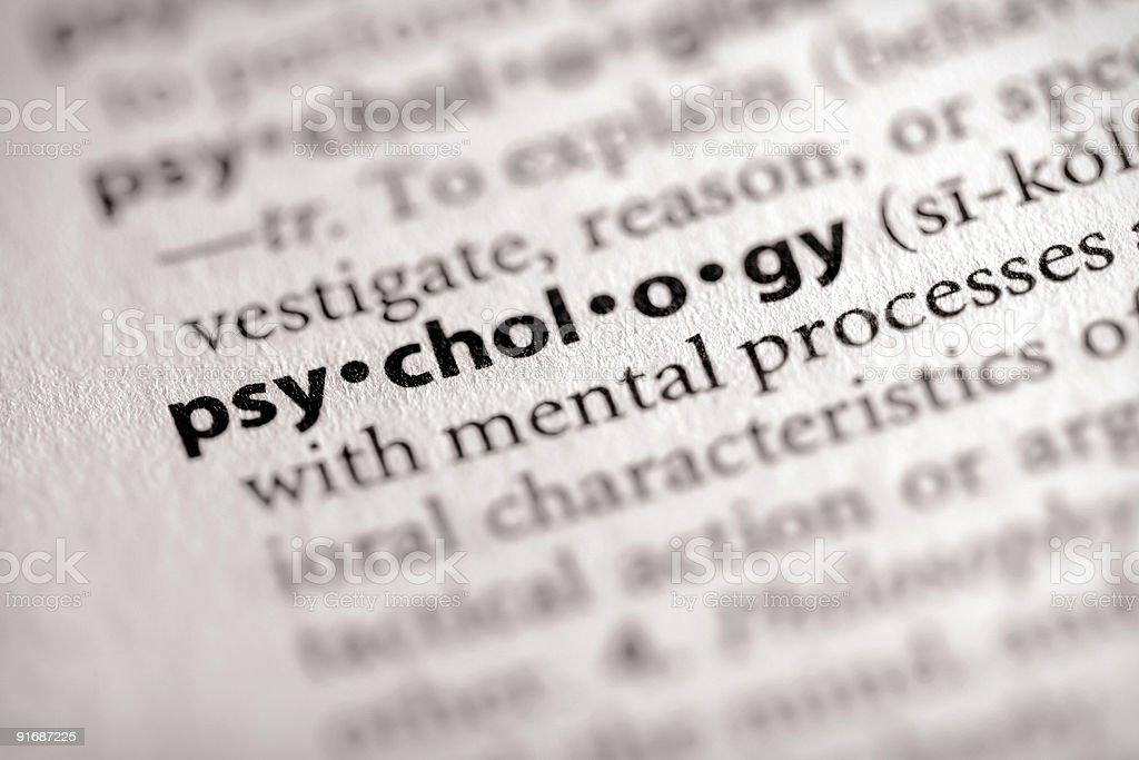 Wörterbuch Serie-Wissenschaft: Psychologie – Foto