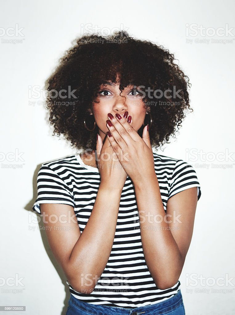 Did I do that? stock photo