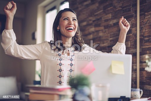 istock I did it! I got the project! 483714450