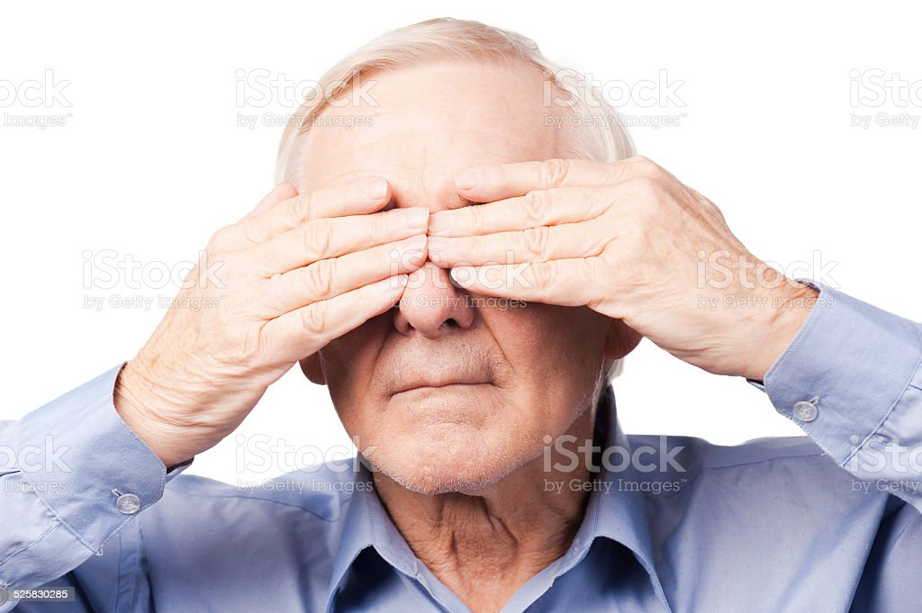 I did not see anything. stock photo