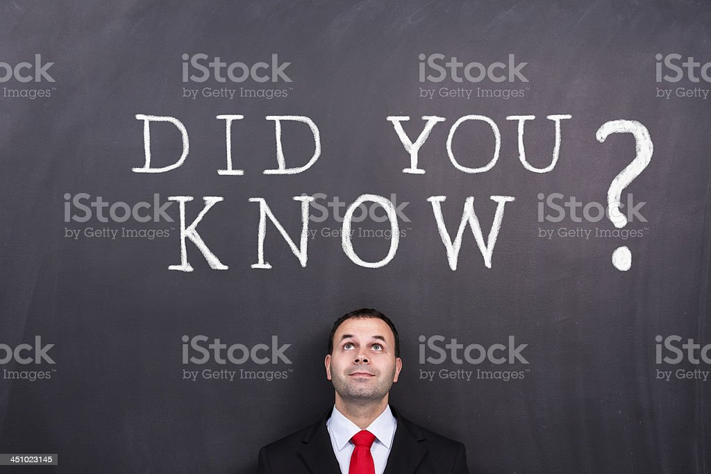Did you know? royalty-free stock photo