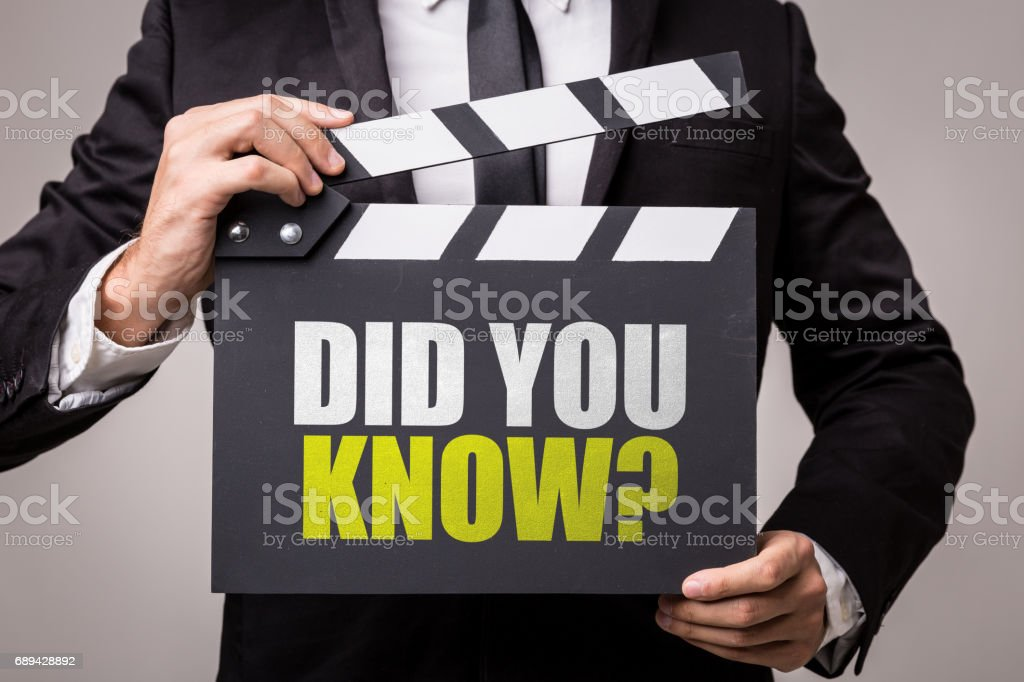Did You Know? stock photo