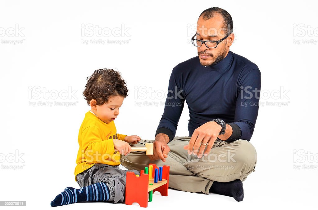 Didactic children Therapy for Autism stock photo