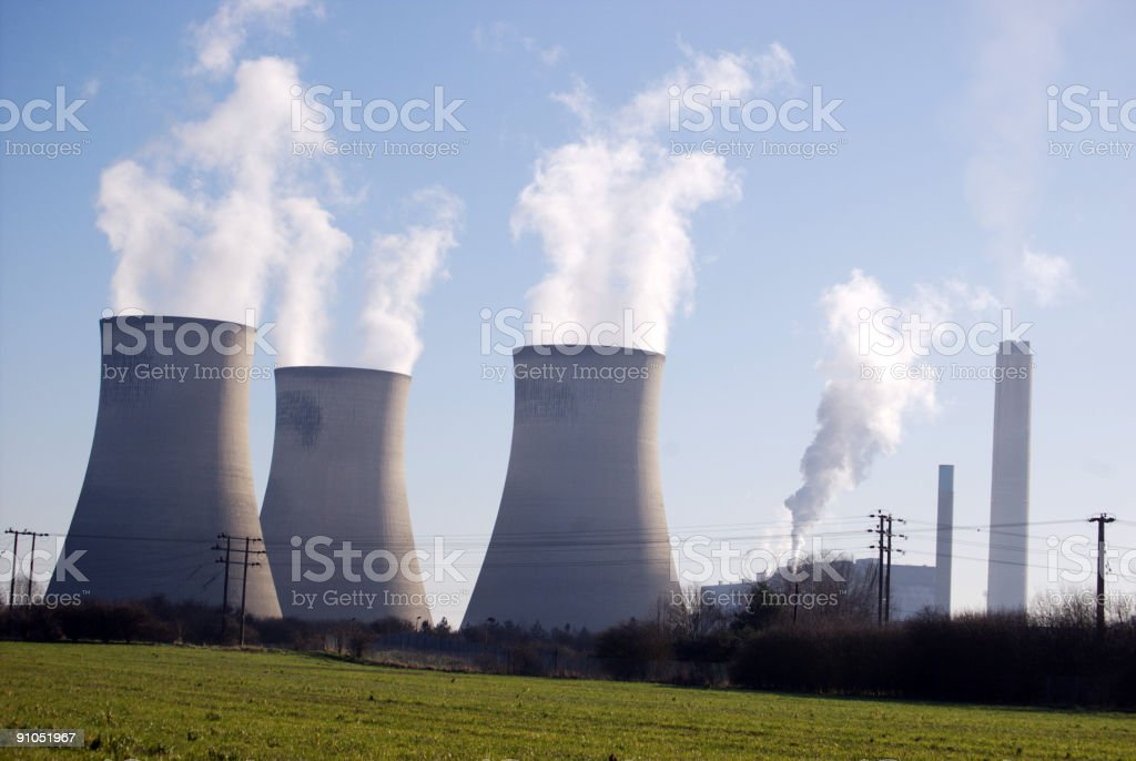 Didcot Power Station flumes royalty-free stock photo