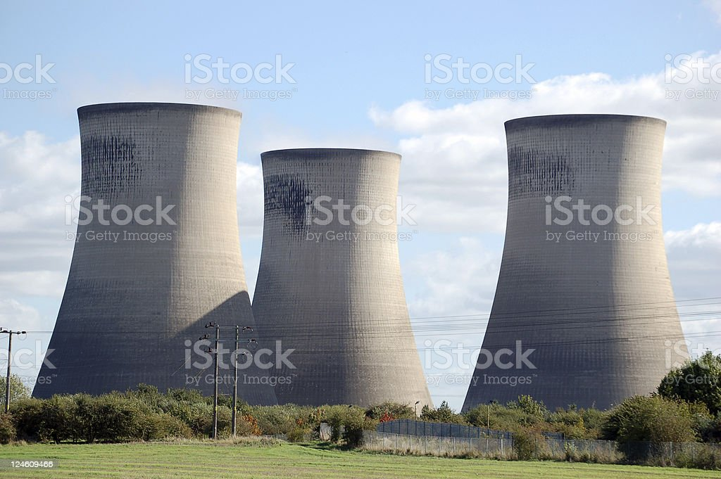 Didcot Power Station royalty-free stock photo