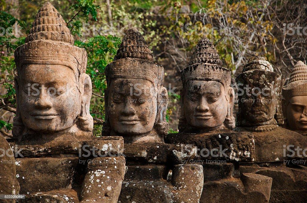 Die Dämonenbalustrade, Kambodscha stock photo