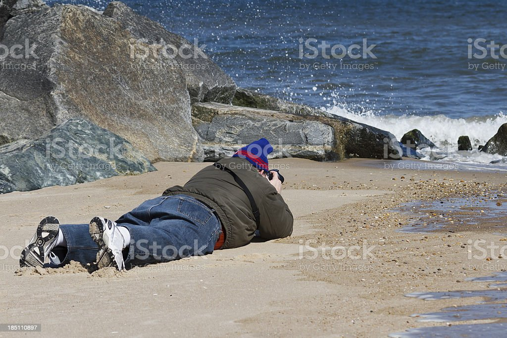 Die Hard Nature Photographer stock photo