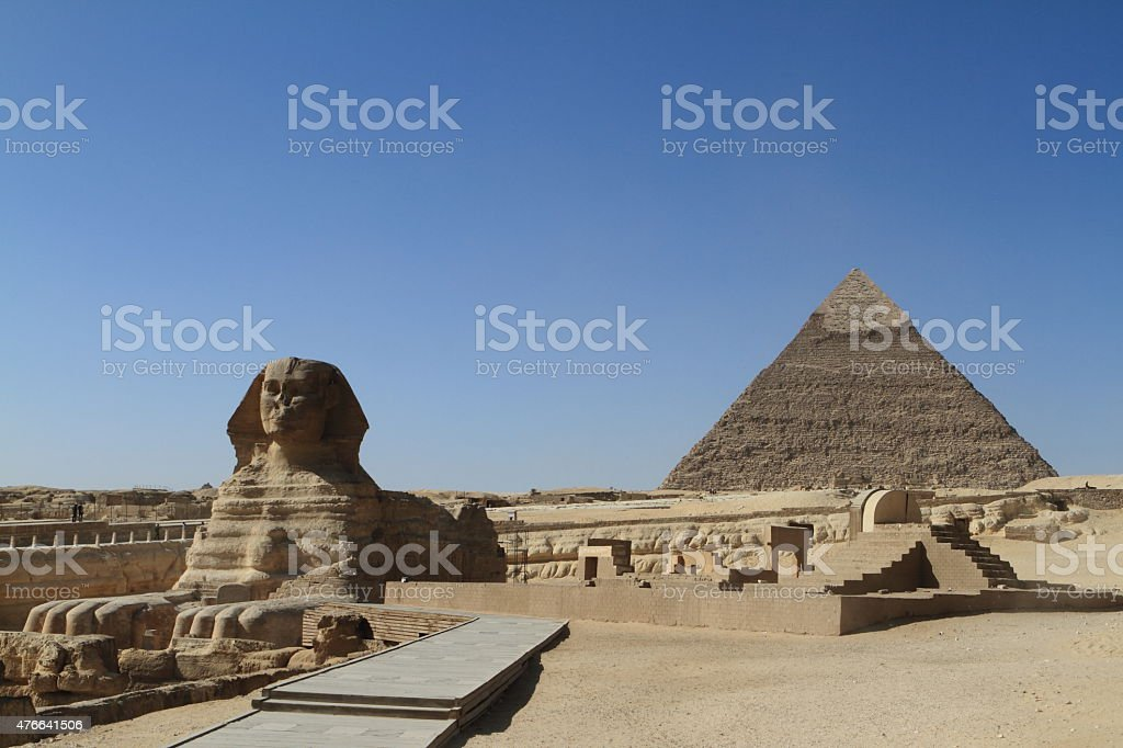 Die Pyramiden und Sphinx von Gizeh in Ägypten stock photo