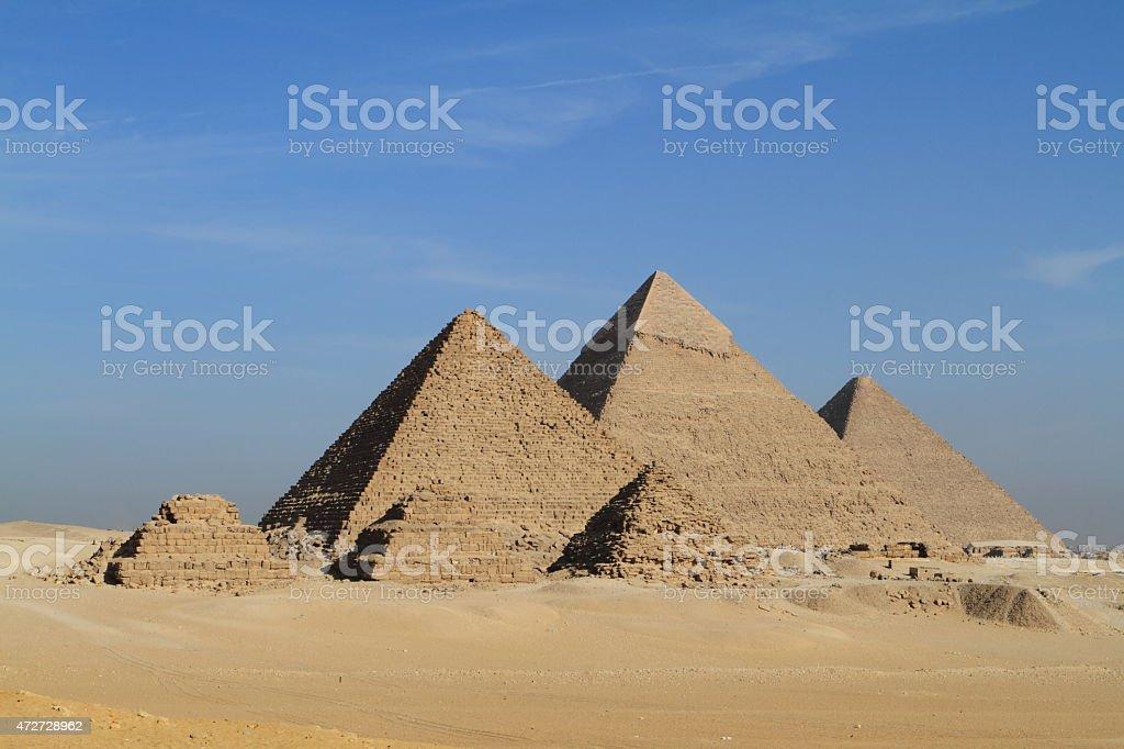 Die Pyramiden von Gizeh in Ägypten stock photo
