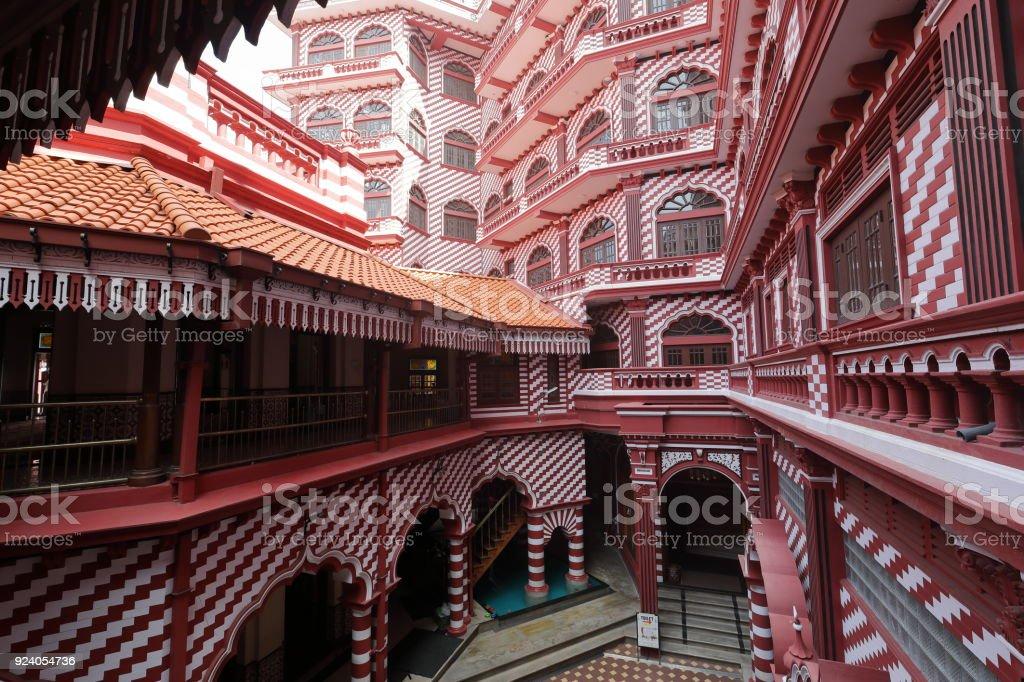 Die rote Moschee von Colombo in Sri Lanka stock photo
