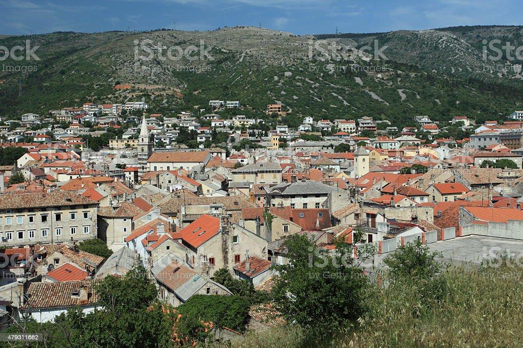 Die Stadt Senj in Kroatien stock photo